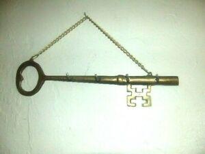 "Brass Key Wall Hanging Key Holder 14"""