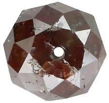 Natural Loose Diamond Round Bead Brown Color I3 Clarity 1.24 Ct 6.00 MM KR866