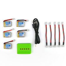5X JJRC H36 3.7V 150mAh Lipo Battery with X5 1 to 5 Charger Set for E010 RC Part