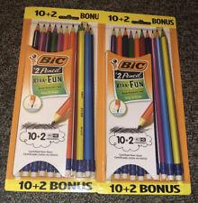 Set Of 2 - BIC® Xtra Fun Pencil, #2 HB, Two-Toned Color Barrels, 12 Pack (24)