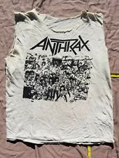 Anthrax 1986  Mosh Hard Vtg tour shirt  NOT a reprint. SLAYER  TesAmenT