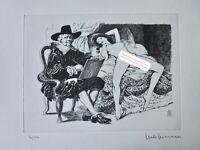 MILO MANARA REMBRANDT Picasso Suite 347 gravure Radierung acquaforte etching