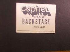 Nrps-10/ 13-Concert Backstage Pass- Capitol Theatre -Nj-