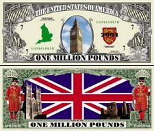 ANGLETERRE - BILLET 1 MILLION POUNDS! Série UNION JACK Londres Big Ben dollar us