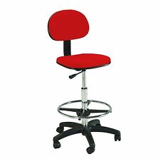 RED | Counter Drafting Height | Office | Chair / Stool / Bankers Seat