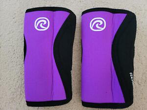 pair of XS rehband knee sleeves purple
