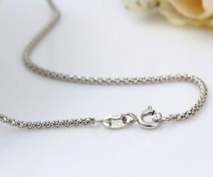 Elegant 925 Sterling Silver Popcorn Chain  Necklace 1.5 mm 20inches