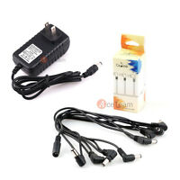 New 8 Way Electric Guitar Effect Pedal Daisy Chain Cable with 9V 2A Power Supply
