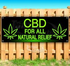 Cbd For All Natural Relief Advertising Vinyl Banner Flag Sign Many Sizes Usa Thc