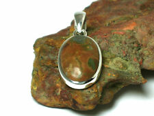 Rainforest  JASPER  Sterling  Silver  925 Gemstone  PENDANT -  Gift Boxed