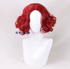 Alice Mad Hatter Party Hair Short Curly Red Cosplay Wig Men's Wig +a wig cap