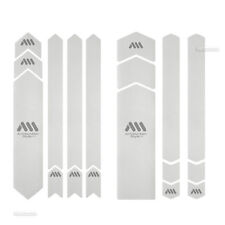 All Mountain Style HONEYCOMB Frame Guard Protection Stickers CLEAR/SILVER XXL
