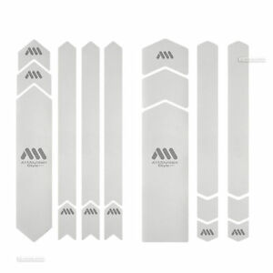 All Mountain Style HONEYCOMB Frame Guard Protection Stickers CLEAR/SILVER FULL