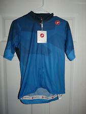Castelli Men's Cycling Flusso Jersey Short Sleeve Blue Large NEW