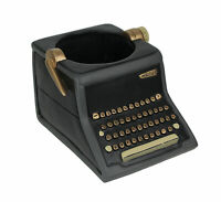 Allen Designs Vintage Writer Indoor/Outdoor Decorative Black Typewriter Planter