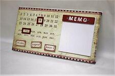 Calendrier perpétuel métal cuisine memo pad vintage rétro shabby chic