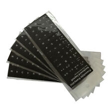 5 x Pegatina Sticker Teclado portatil Francés French Laptop Negro AZERTY