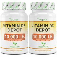 2x Vitamin D3 10.000 I.E. = 730 Tabletten - Hochdosiert mit 10000 IU Vitamin D3