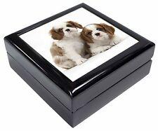 Blenheim King Charles Spaniels Keepsake/Jewellery Box Christmas Gift, AD-SKC5JB