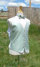 Men's Formal Waistcoat Dress Vest and Tie Set Wedding Prom Mint magic mike Green