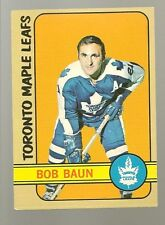 1972 - 73 Topps Hockey Set BOB BAUN Card