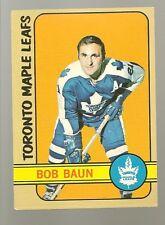 1972 - 73 Topps Hockey Set BOB BAUN Card