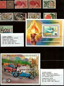 IVORY COAST - Nice Lot of 70+ Stamps & Souvenir Sheets - Check out the scans