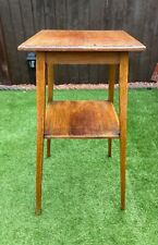 More details for antique vintage wooden two tier jardiniere plant pot display stand oak? g