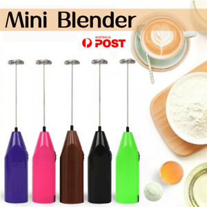 Electric Kitchen Mini Foamer Milk Frother Egg Beater Stirrer Whisk Mixer Tool AU