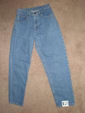 (Size 7) CARHARTT Women's Blue Denim Tapered Leg Jeans