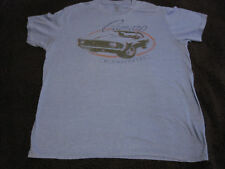 GM Licensed Chevrolet Camaro T-Shirt Mens XL Light Blue Pre-Owned