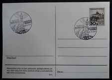1971 Czechoslovakia 30H stamped Postcard with Kosmos Exhibition Prague cachets