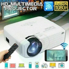 LED Full HD 1080P Projektor Mini 3D Projektor USB WIFI Tragbar Heimkino Beamer