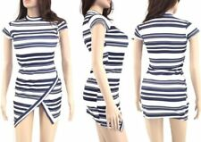 Stripes Asymmetric Dresses for Women