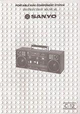 Manual usuario SANYO C12 [minicadena] ORIGINAL
