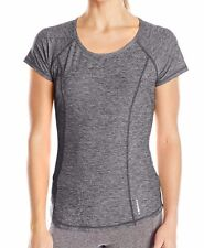 HEAD Women's Studio Marled Short Sleeve Athletic Workout Yoga Shirt Top Size M-L