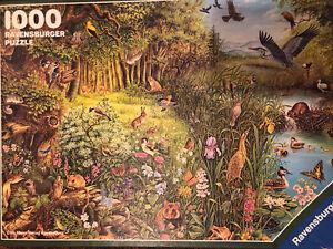 Ravensburger 1000 piece puzzle Endangered Species, 1986, Complete!