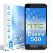 3x HTC Desire 500 Panzerfolie Displayschutz Schutzfolie Folie Klar