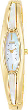 Citizen EG2162-58D Ladies Watch Gold Tone Silhouette Bangle Style