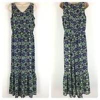 Coldwater Creek Maxi Dress Sleeveless V-Neck Purple Chiffon Size 8 NWT $139.00
