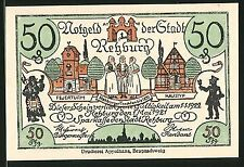 Notgeld Rehburg 1921, 50 Pfennig, Bäuerinnen in Tracht und Feuerturm, Doktor vo