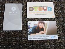Hotel Key Card Hilton LOT Doubletree DTOUR, USA Today ad, Hyatt Regency Silver