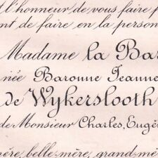 Jeanne Cornélie Valentine De Wykerslooth De Weerdesteyn Cadier De Veauce 1885