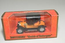 + MATCHBOX YESTERYEAR Y-4 Y4 Y 4 1909 OPEL COUPE ORANGE MINT BOXED