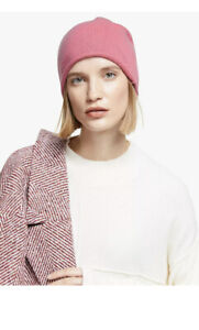 BNWT John Lewis 100% Cashmere Bright Pink Beanie Hat   New tags £40