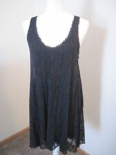 FREE PEOPLE Anthropologie Black Lace Sleeveless Dress Size S Fully Lined