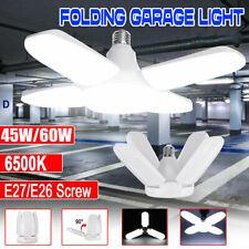 E27 LED Garage Light Bulb Deformable Ceiling Fixture Light Shop Workshop Lamp US