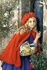 Little Red Riding Hood by Isabel Naftel Russian Modern postcard