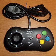 Black SNK Neo Geo Controller Pad with custom clicky thumbstick, AES, MVS & CD
