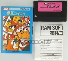 MSX ROM PACK HANAFUDA KOI KOI BOXED JAPAN